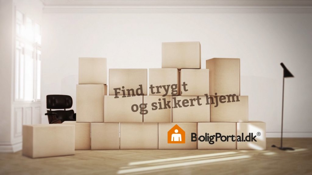 An advanced 3d and live action TV Commercial production for Boligportal.dk in Denmark