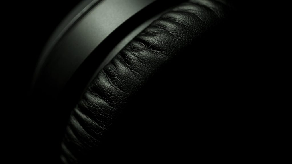 A close up of Jabra Headphones from our video production and product shoot for Jabra