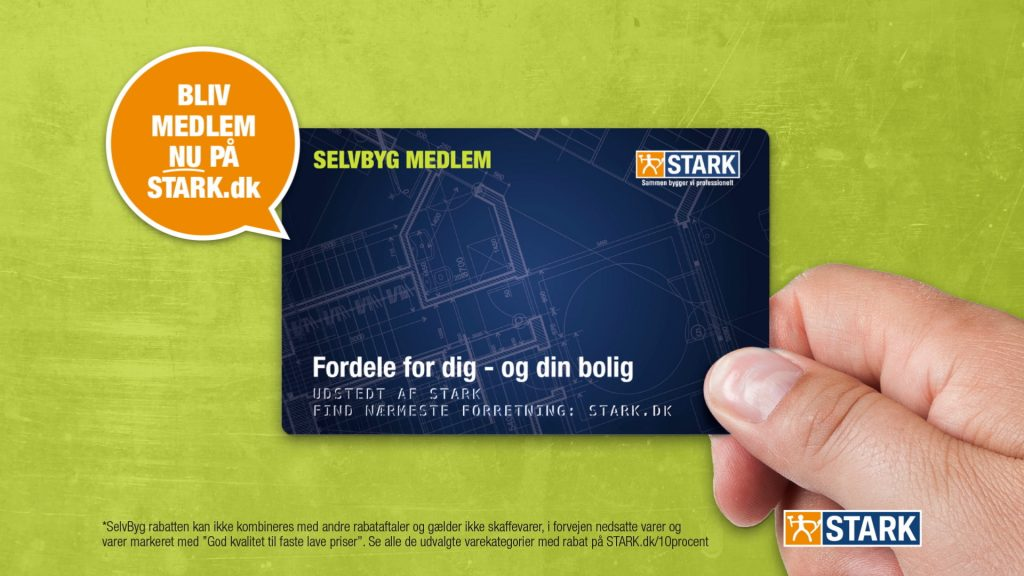 A TV Commercial and film production for Stark Selvbyg membership card