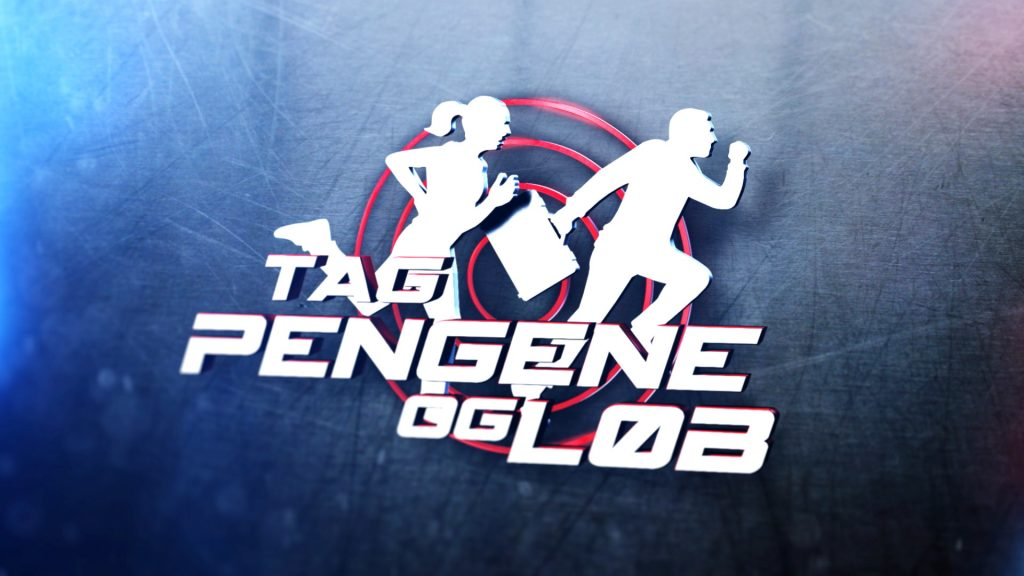 An animated video and motion graphics title sequence and graphic package for the Danish series Tag Penge og Løb