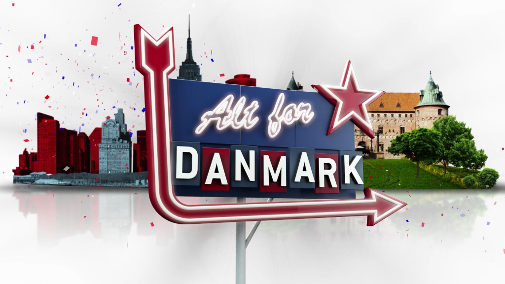 A motion graphics, live action and 3d title sequence and graphic package for the Danish series Alt For Danmark