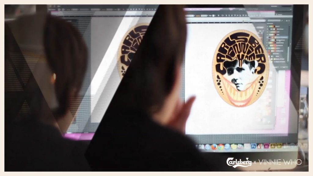 Post production of this video for Carlsberg and the promotion of their stand out collection where they collaborated with Vinnie Who