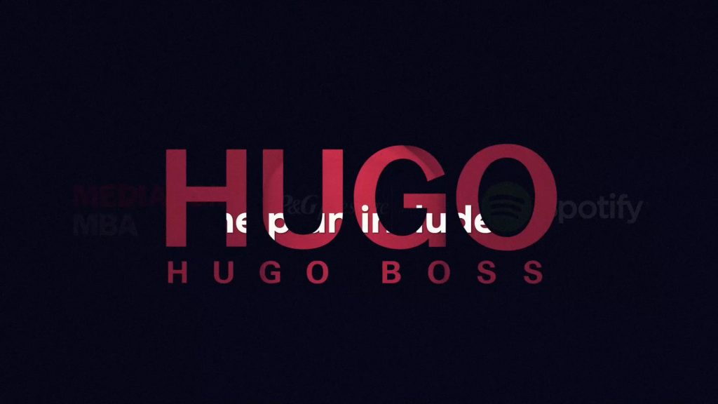 Editing, color grading, motion graphics and animations for a case video production for a Hugo Boss and Spotify collaboration