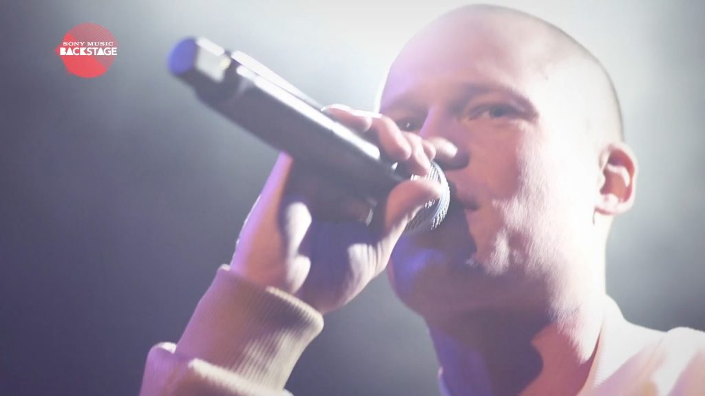 A film production and post production of a EPK for Sony Music Backstage with Danish rapper Yepha on stage