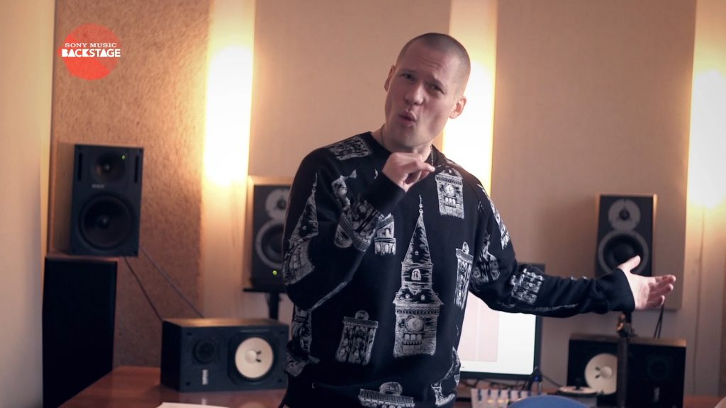 A film production and post production of a EPK for Sony Music Backstage with Danish rapper Yepha in the studio