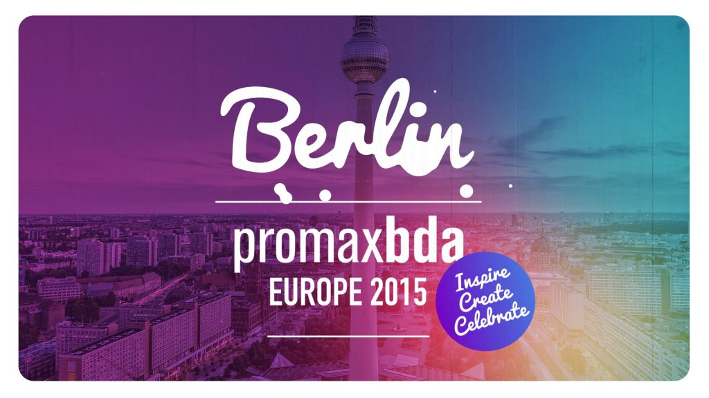 A 3d animation and motion graphics show opener and graphic package for Promaxbda Europe conference