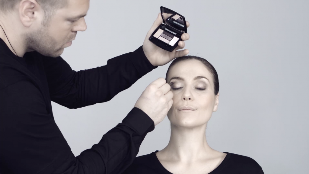 A makeover and makeup video production and explainer video for Lancôme - studio filming, editing and post production