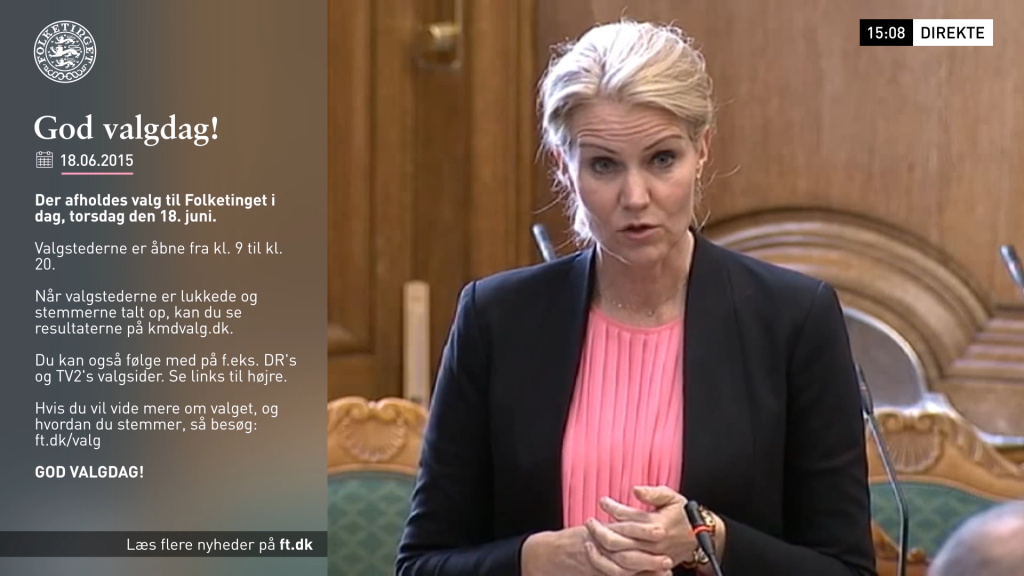 Motion Graphics and animated TV graphic package for Danish parliament channel Folketinget TV