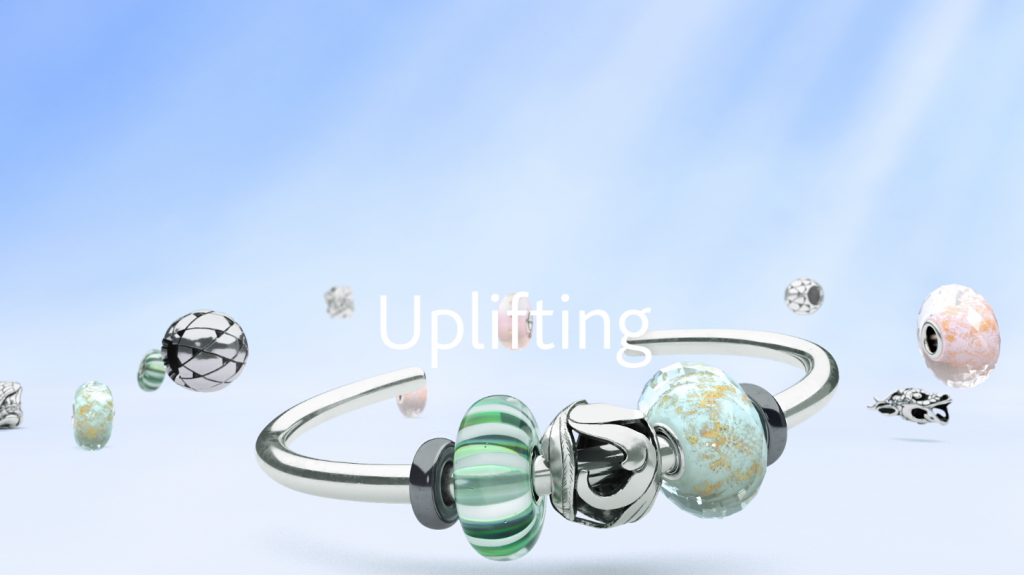 Advanced 3D modelling and animation in the TV commercial and promotional spot for Trollbeads uplifting jewellery collection