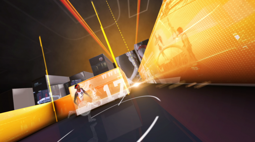 3d, live action and motion graphics title sequence for Match TV Basketball