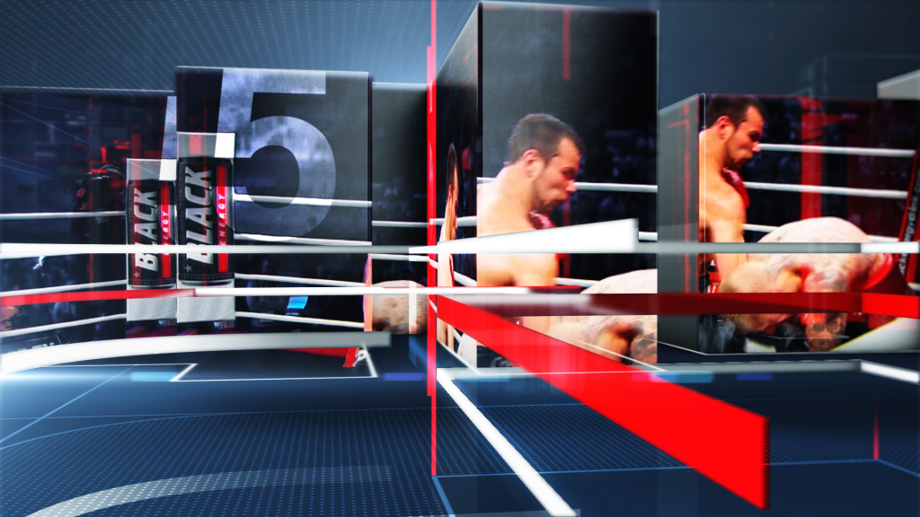 3d, live action and motion graphics title sequence for Match TV Boxing