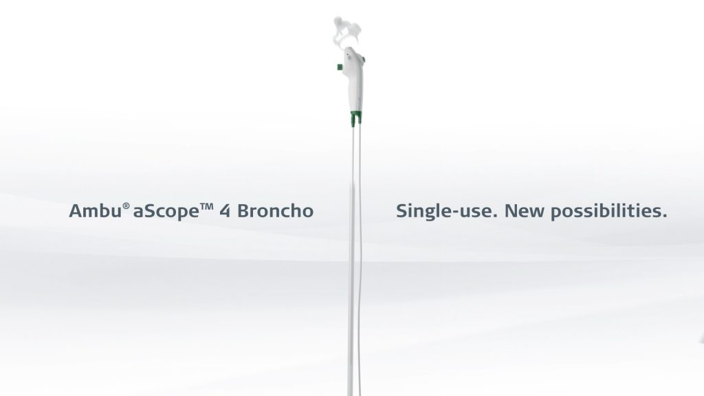 A product presentation video for Ambu with 3d modelling and animation of their single-use bronchoscope aScope 4 Broncho
