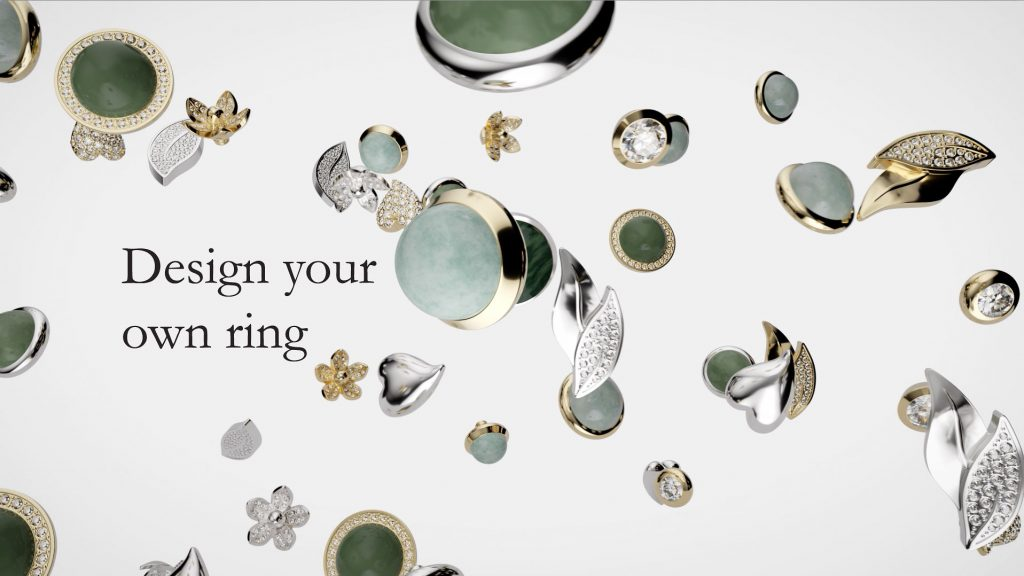 Advanced 3D modelling and animation in this 3d image demo video for Dyrberg/Kern's Compliments jewellery collection